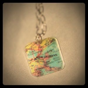 Jewelry - New Orleans Map Necklace
